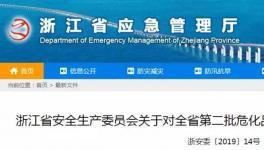 浙江挂牌督办危化品重大事故隐患企业 传化子公司、百合花上榜